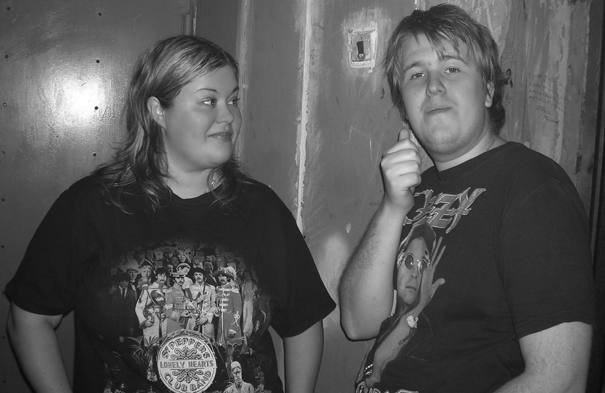 2005, на репетиции, вокалистка Света Гудёж и клавишник Олег Похвалин
